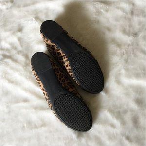 Merona Shoes - Leopard print cap toe ballet flat